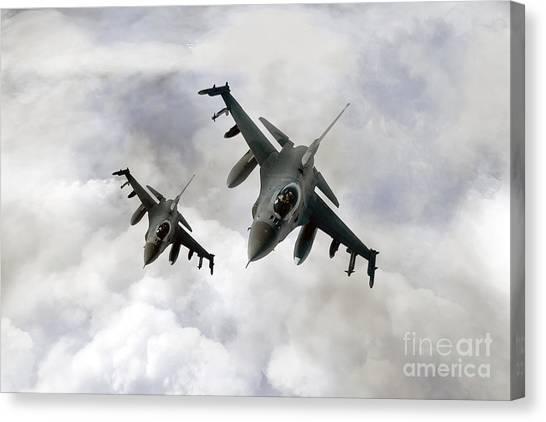 F16 Canvas Print - Fighting Falcons by J Biggadike