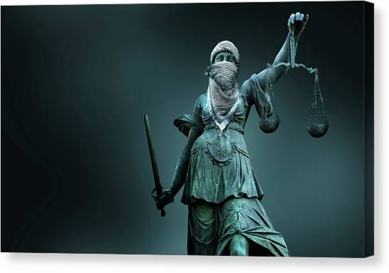 Terrorist Canvas Print - Fighting For Justice by Smetek
