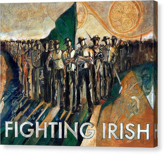 Honor Canvas Print - Fighting Irish Pride And Courage by Revere La Noue