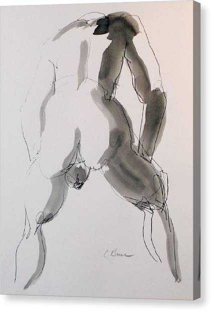 Figure 2 Male Nude Canvas Print by Craig  Bruce