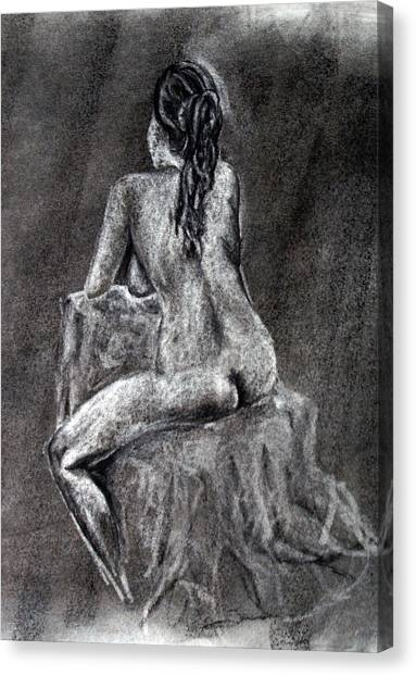 Figure Drawing 2 Canvas Print by Corina Bishop