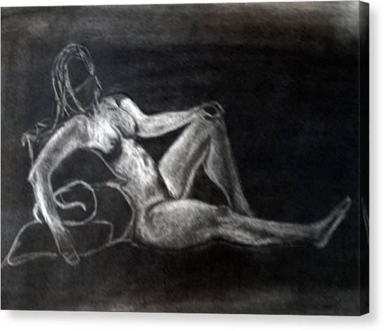 Figure Drawing Canvas Print by Corina Bishop
