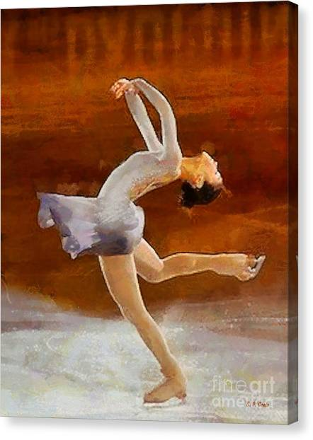 Figure Skating Canvas Print