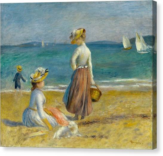 The Metropolitan Museum Of Art Canvas Print - Figures On The Beach by Pierre-Auguste Renoir