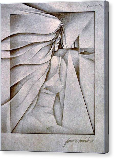 Figurescape 1970 Canvas Print