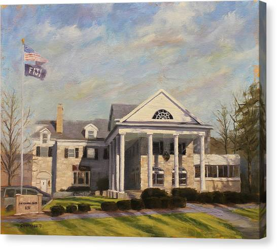 Fiji Canvas Print - Fiji Fraternity House Iu Indiana University by Steve Haigh