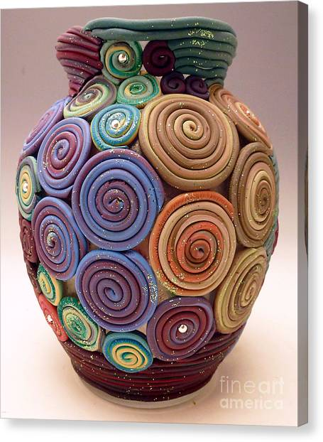 Filigree Vase Canvas Print