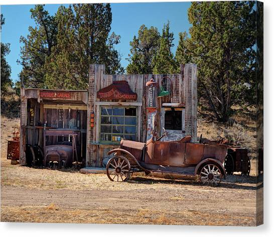 Old Country Roads Canvas Print - Fill Er Up by Leland D Howard