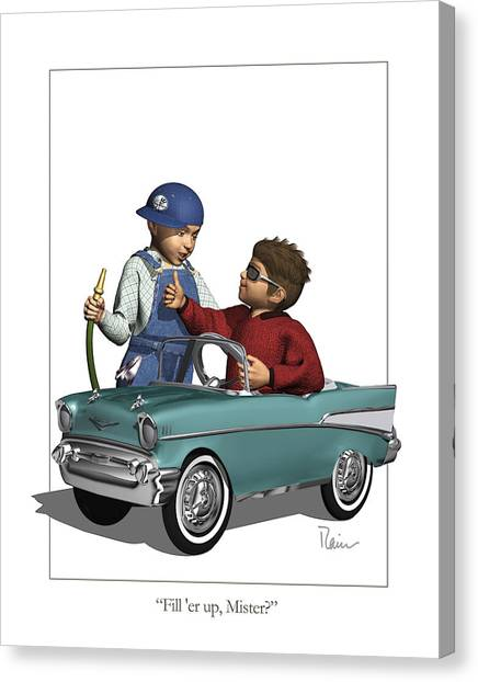 Fill Er Up Canvas Print