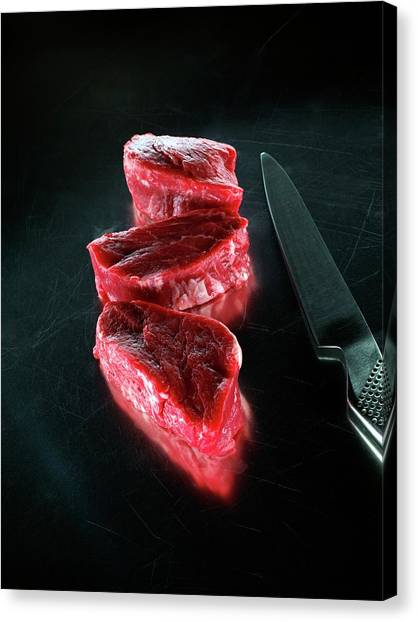 Fillet Canvas Print - Fillet Steaks by Patrick Llewelyn-davies/science Photo Library