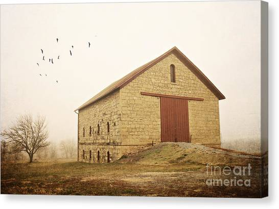 Filley Stone Barn 1 Canvas Print