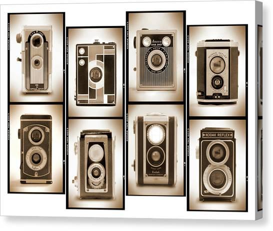 Vintage Camera Canvas Print - Film Camera Proofs 4 by Mike McGlothlen