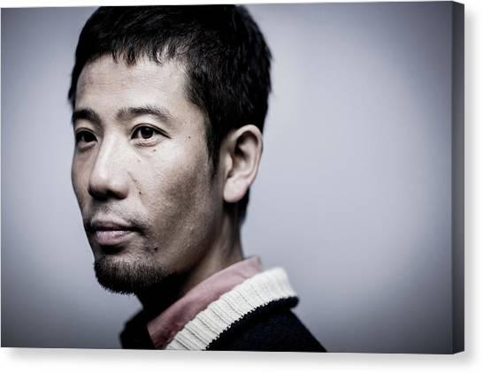 Film Director Shuhei Morita Portrait Canvas Print by Chris Mcgrath