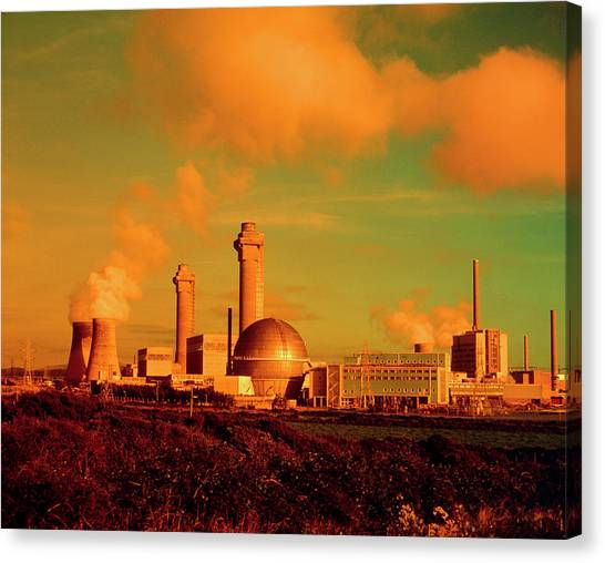Nuclear Plants Canvas Print - Filtered Photo Of The Sellafield Nuclear Plant by Martin Bond/science Photo Library
