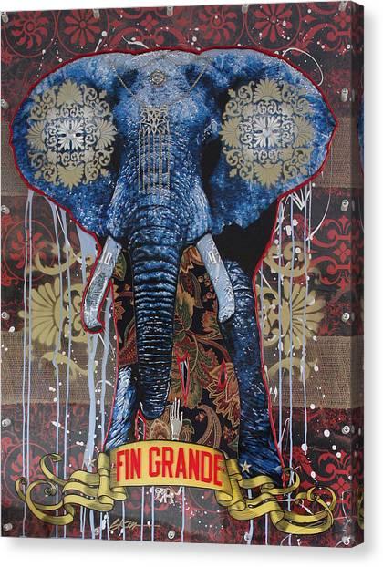 Karma Canvas Print - Fin Grande by Gary Kroman