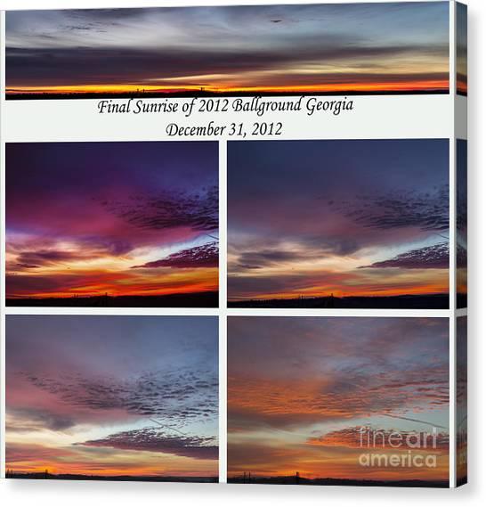 Final 2012 Sunrise Combo Canvas Print