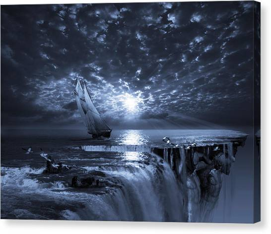 Surreal Canvas Print - Final Frontier Voyager by George Grie