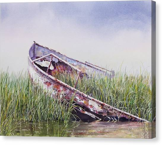 Marshes Canvas Print - Final Journey by Ted Head