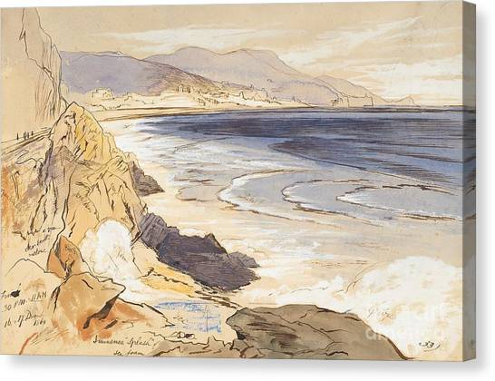 Pencil On Canvas Print - Finale by Edward Lear