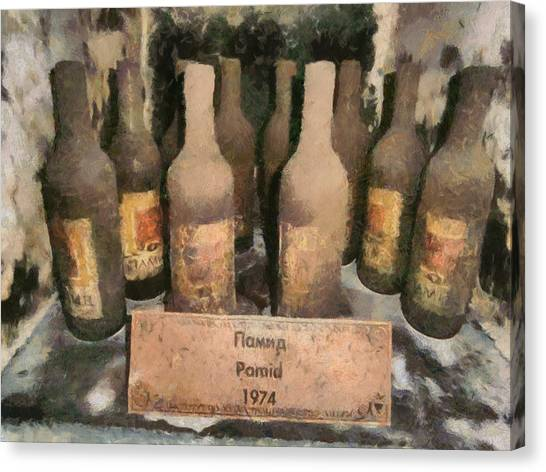 Find Vintage White Wine Pamid 1974 Canvas Print