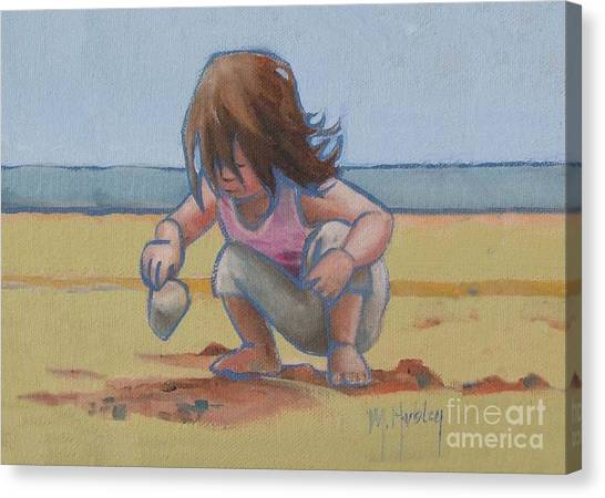 Finding A Shell Canvas Print