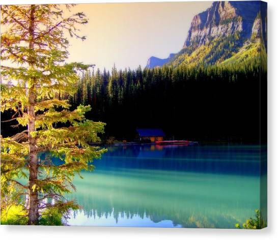 Mountainscape Canvas Print - Finding Inner Peace by Karen Wiles