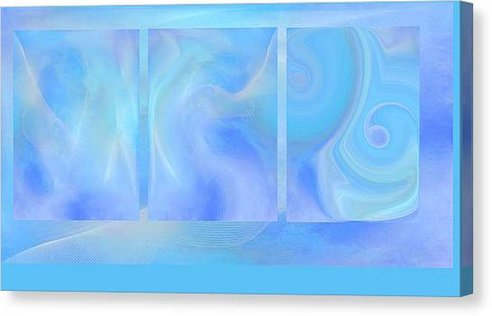 Fine Art Original Digital Abstract Untitled1bb4 As Blue Canvas Print