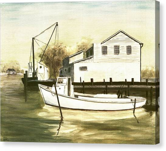Fine Art Traditional Oil Painting Solomons Island Canvas Print