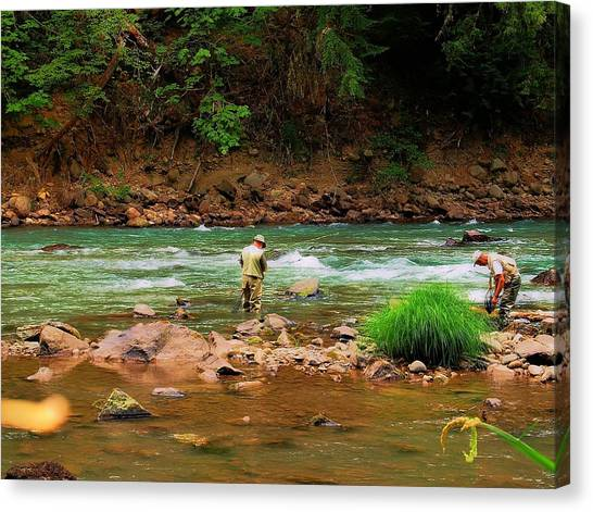 Fine Day For Fishin Canvas Print