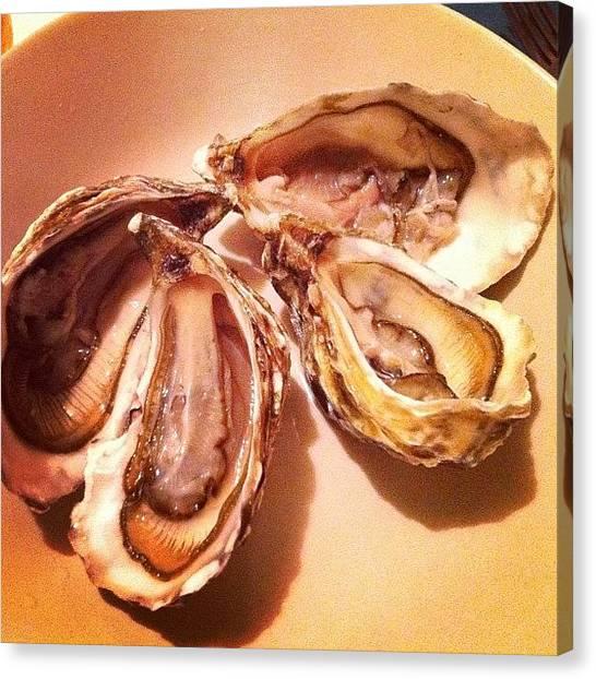 Oysters Canvas Print - Fine De Claire #oyster #finedeclaire by TC Li