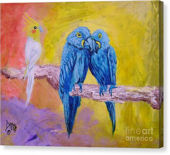 Fine Feathered Friends 1 Canvas Print