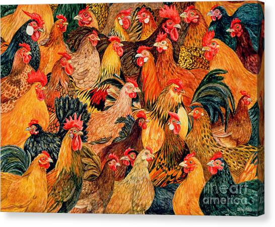Roosters Canvas Print - Fine Fowl by Ditz