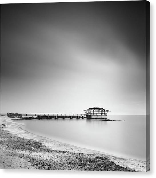 Pier Canvas Print - Finest Hour by George Digalakis