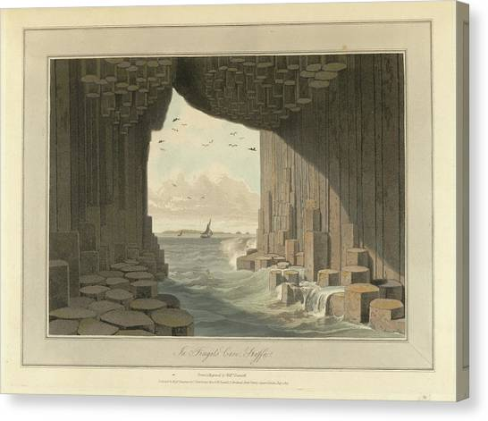 Mountain Caves Canvas Print - Fingal's Cave by British Library