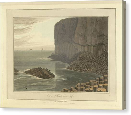 Mountain Caves Canvas Print - Fingal's Cave On Staffa by British Library