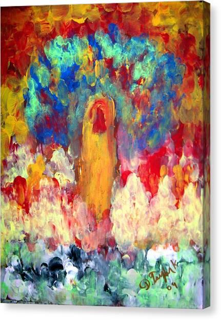 Finger Painting By Darryl Kravitz Canvas Print by Darryl  Kravitz