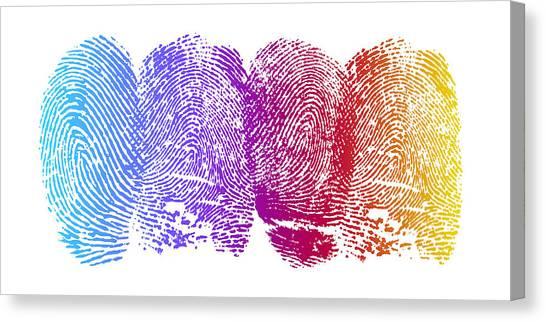 Accomplish Canvas Print - Finger Prints by Aged Pixel