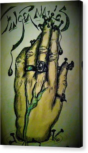 Fingernails Canvas Print