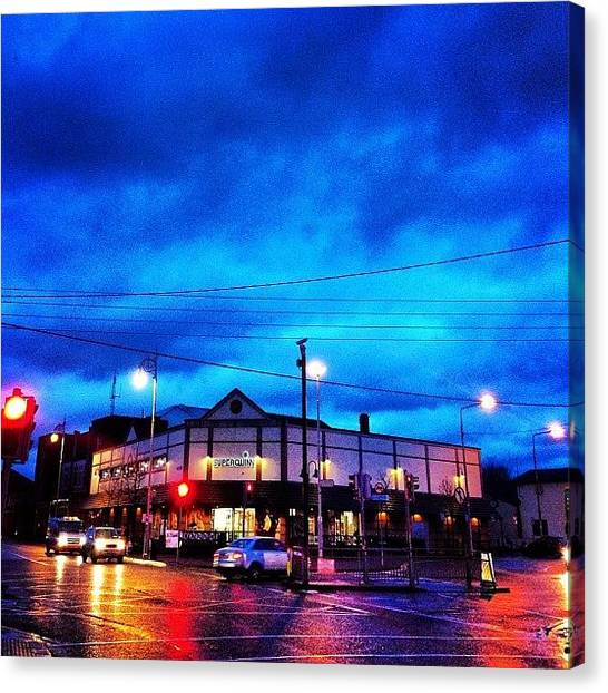U2 Canvas Print - Finglas Village by Stephen Browne