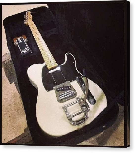 Fender Guitars Canvas Print - Finish :d #fantastic #custom #guitar by Philopater Di carlo