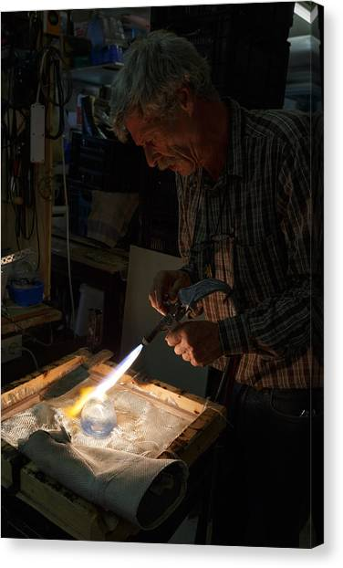 Canvas Print featuring the photograph Finishing Touches  by Paul Indigo
