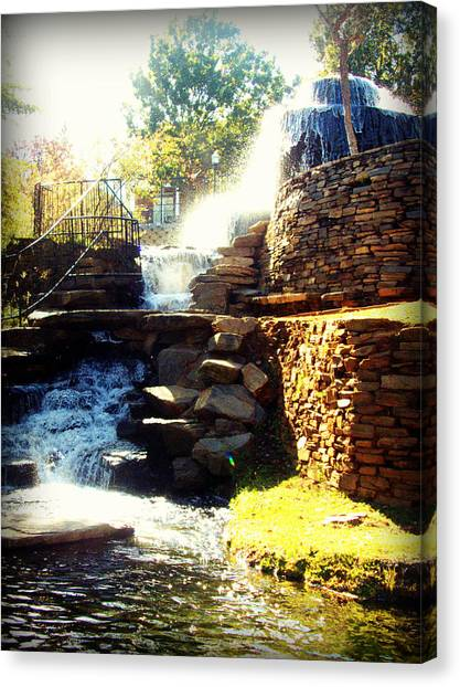 Finlay Park Fountain Canvas Print