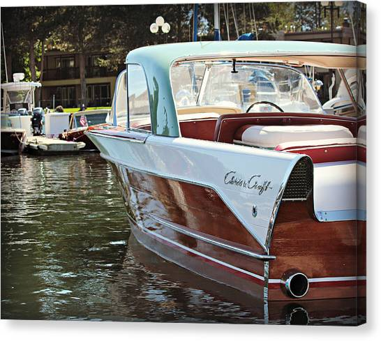 Finned Chris Craft Canvas Print