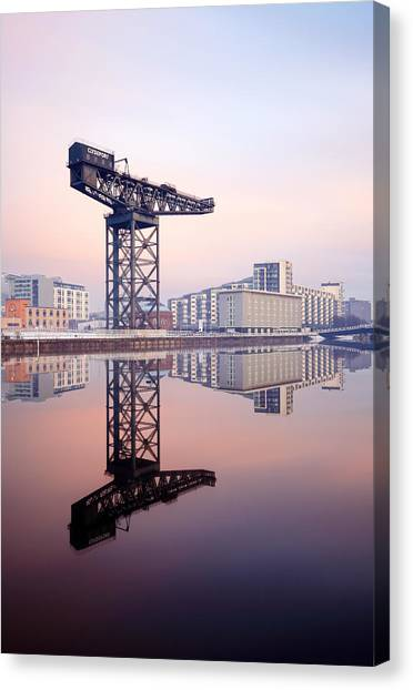 Finnieston Crane Reflection Canvas Print