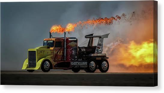 Trucks Canvas Print - Fire & Speed - Mcas Miramar Air Show by David H Yang