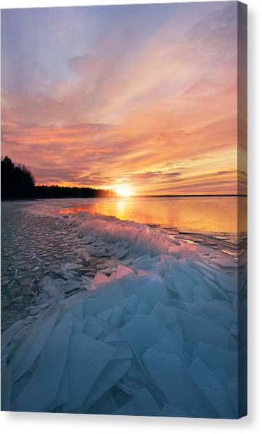 Formations Canvas Print - Fire And Ice by Christian Lindsten
