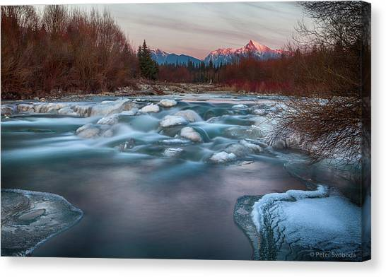 Fire And Ice Canvas Print by Peter Svoboda, Mqep