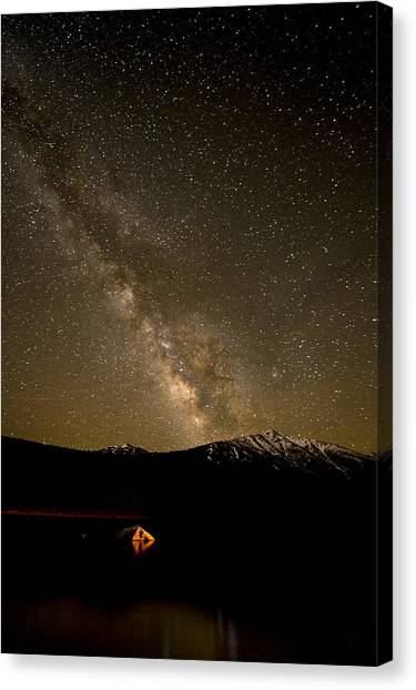 Fire And Sky Canvas Print