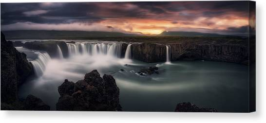 Cliffs Canvas Print - Fire And Water by Stefan Mitterwallner