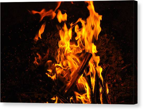 Fire Dance Canvas Print by BandC  Photography